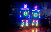 Светящийся программируемый костюм для шоу