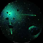 Светящееся звездное небо